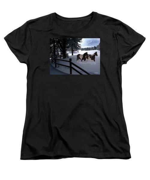 Almost Christmas Women's T-Shirt (Standard Cut) by Bill Stephens