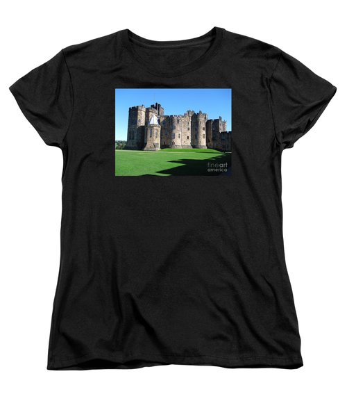 Women's T-Shirt (Standard Cut) featuring the photograph Alnwick Castle Castle Alnwick Northumberland by Paul Fearn