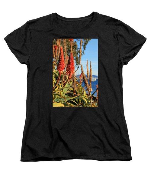 Aloe Vera Bloom Women's T-Shirt (Standard Cut) by Mariola Bitner