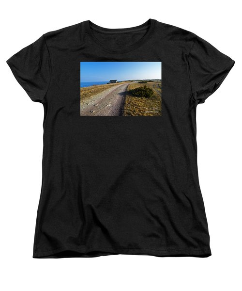 Women's T-Shirt (Standard Cut) featuring the photograph Along The Coast Of Baltic Sea by Kennerth and Birgitta Kullman