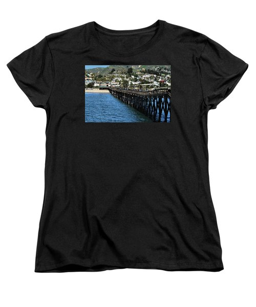 Women's T-Shirt (Standard Cut) featuring the photograph Along The Pier by Michael Gordon
