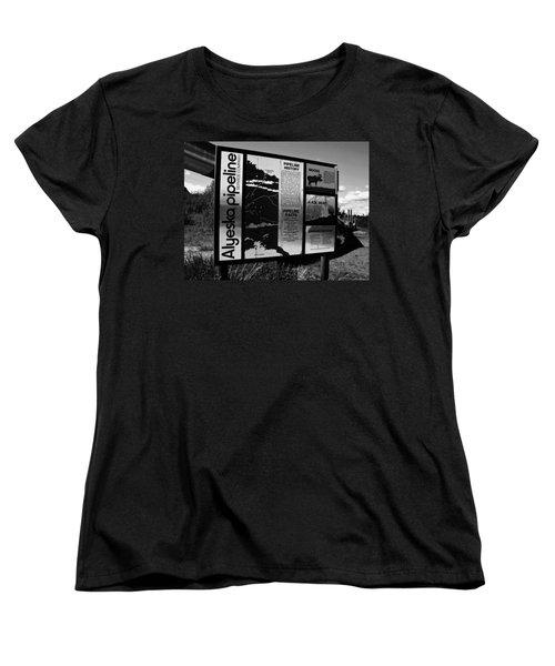 Alyeska Pipeline Women's T-Shirt (Standard Cut) by Juergen Weiss