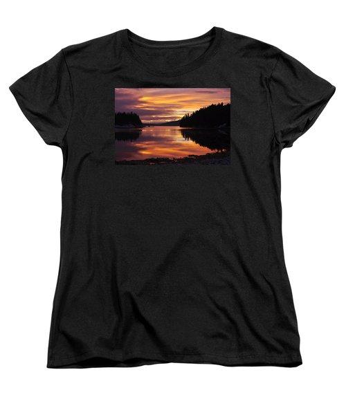 Amalga Harbor Sunset Women's T-Shirt (Standard Cut)
