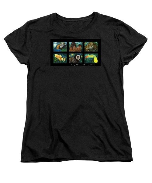Amazon Series Collage Women's T-Shirt (Standard Cut) by Sandra LaFaut