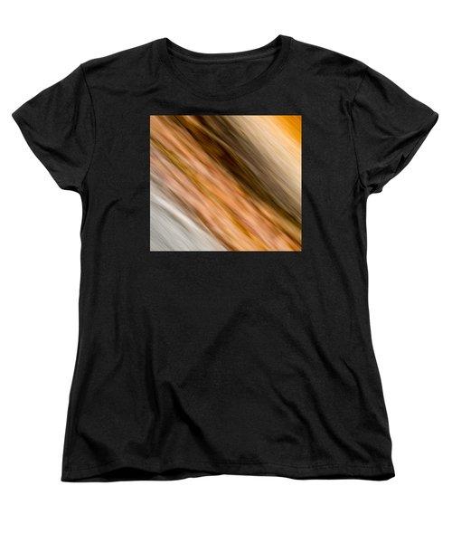 Amber Diagonal Women's T-Shirt (Standard Cut) by Darryl Dalton