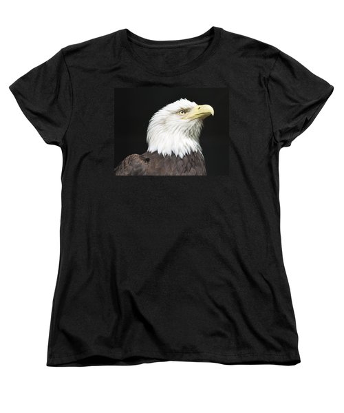 American Bald Eagle Profile Women's T-Shirt (Standard Cut) by Richard Bryce and Family
