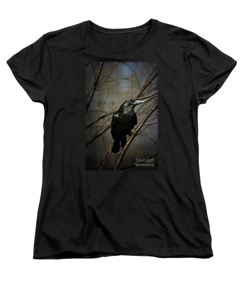 American Crow Women's T-Shirt (Standard Cut) by Lois Bryan