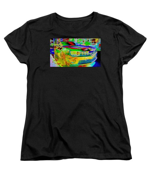 Women's T-Shirt (Standard Cut) featuring the mixed media American Dream by Rogerio Mariani