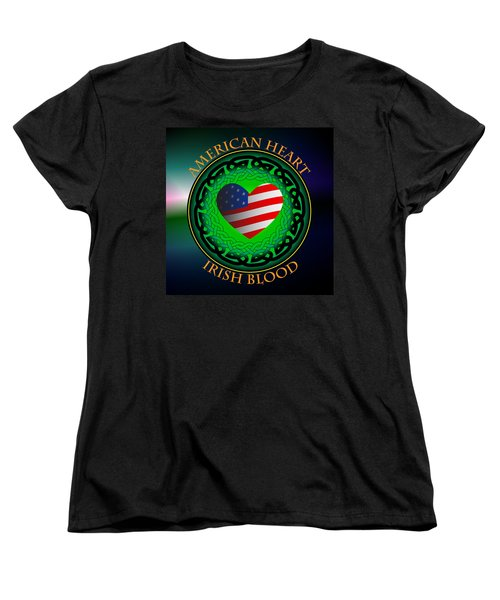 American Heart Irish Blood Women's T-Shirt (Standard Cut) by Ireland Calling