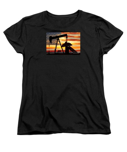 American Oil  Women's T-Shirt (Standard Cut) by James BO  Insogna