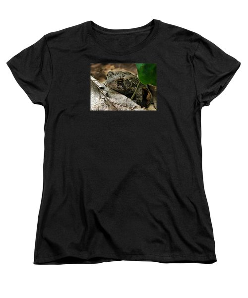 Women's T-Shirt (Standard Cut) featuring the photograph American Toad by William Tanneberger