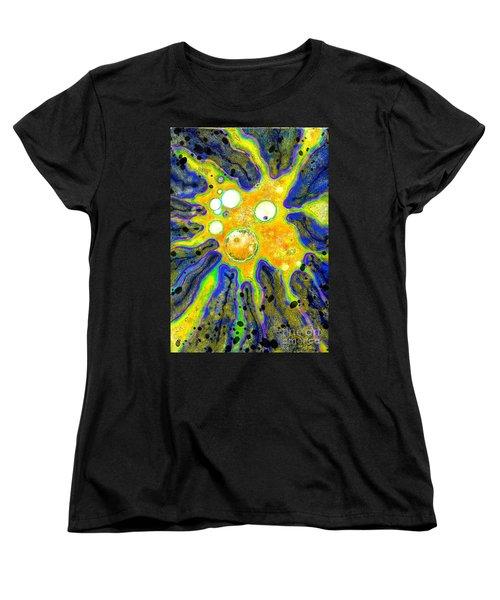 Women's T-Shirt (Standard Cut) featuring the painting Amoeba Senescent by Carol Jacobs