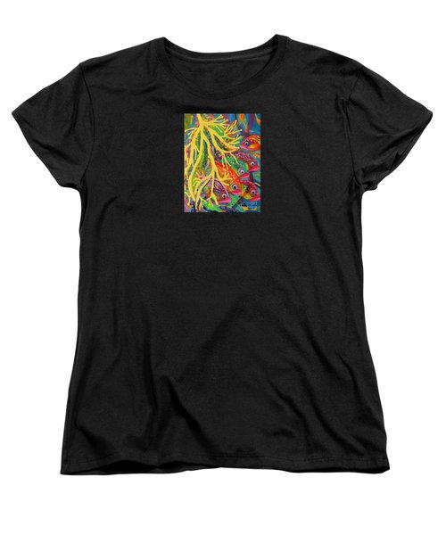Women's T-Shirt (Standard Cut) featuring the painting Amongst The Coral by Lyn Olsen