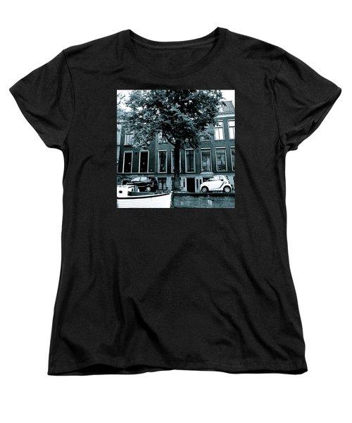 Amsterdam Electric Car Women's T-Shirt (Standard Cut) by Cheryl Miller