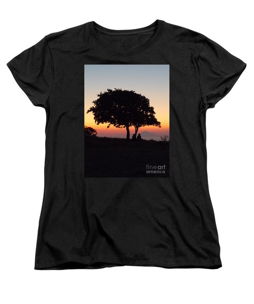 An African Sunset Women's T-Shirt (Standard Cut) by Vicki Spindler