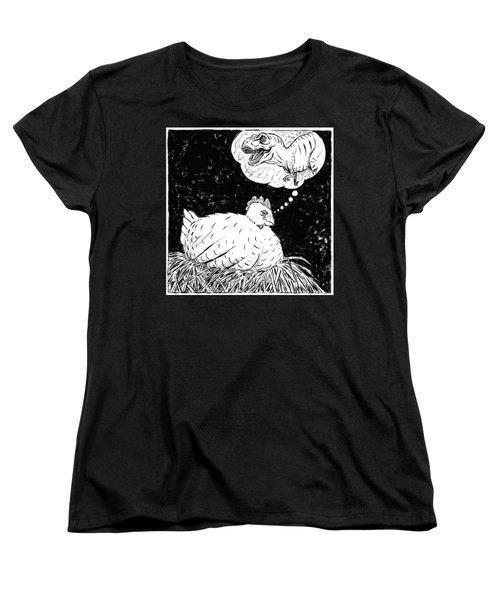 Ancestor Dreams Study Women's T-Shirt (Standard Cut) by Holly Wood