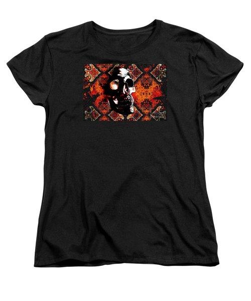Women's T-Shirt (Standard Cut) featuring the photograph Ancient Skull by Annie Zeno