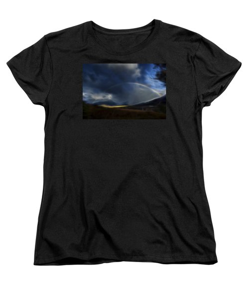 Women's T-Shirt (Standard Cut) featuring the digital art Andean Rainbow by William Horden