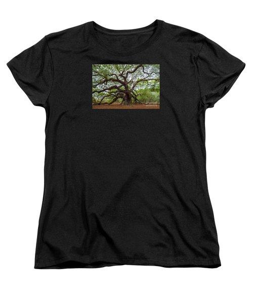 Women's T-Shirt (Standard Cut) featuring the photograph Angel Oak Tree by Dale Powell