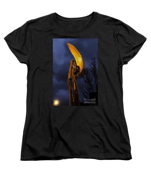 Angel Of The Morning Women's T-Shirt (Standard Cut) by Steve Purnell