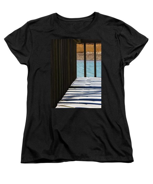 Women's T-Shirt (Standard Cut) featuring the photograph Angles And Shadows by Shawna Rowe