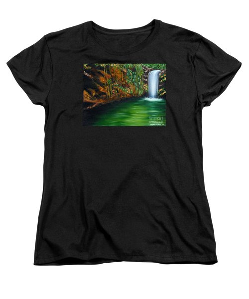 Annadale Waterfall Women's T-Shirt (Standard Cut) by Laura Forde
