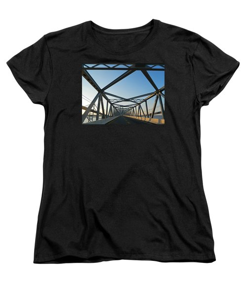 Annapolis Bay Bridge At Sunrise Women's T-Shirt (Standard Cut) by Emmy Marie Vickers