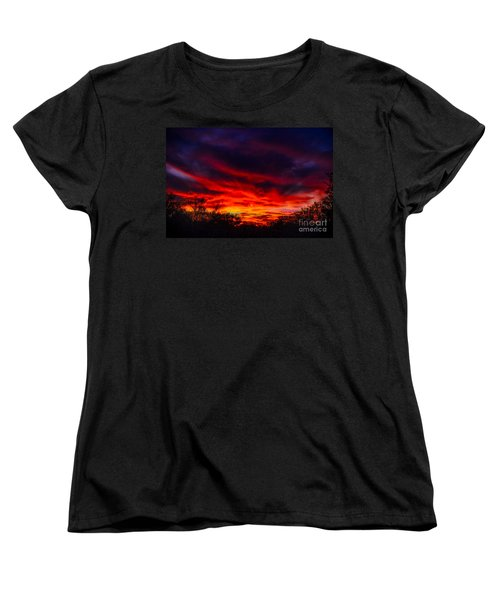 Women's T-Shirt (Standard Cut) featuring the photograph Another Tucson Sunset by Mark Myhaver