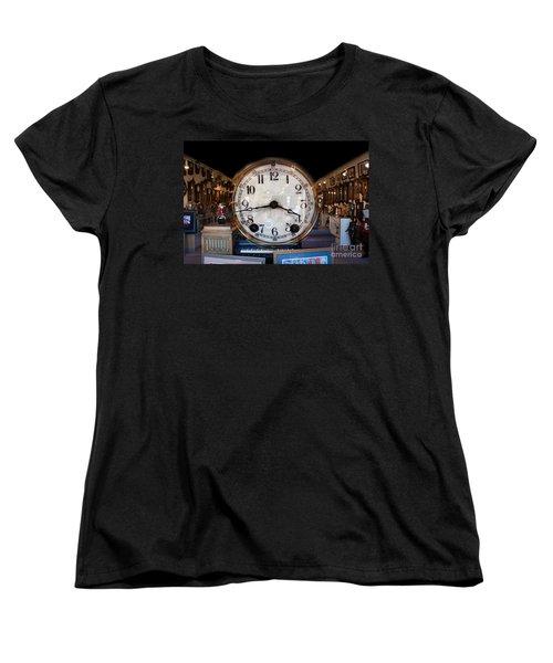 Women's T-Shirt (Standard Cut) featuring the photograph Antique Clock Store by Gunter Nezhoda