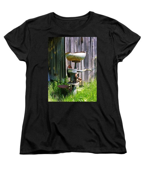 Women's T-Shirt (Standard Cut) featuring the photograph Antique Cream Separator by Sherman Perry