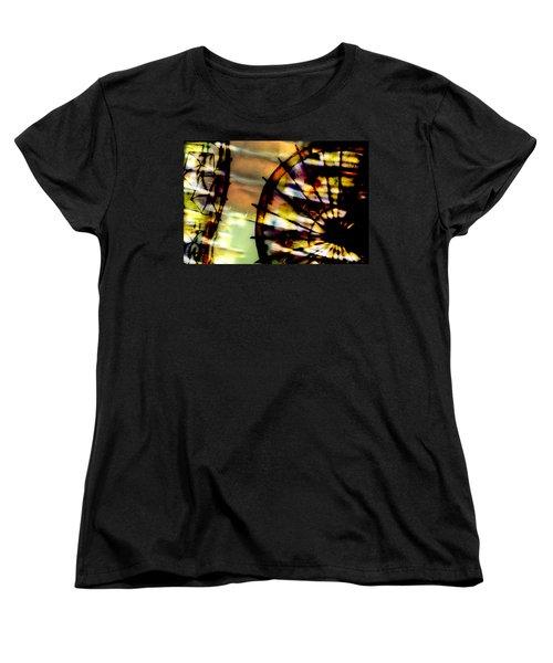 Color Wheel Women's T-Shirt (Standard Cut) by Don Gradner