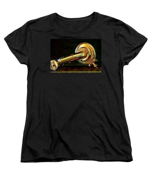 Antique Phonograph Tonearm Women's T-Shirt (Standard Cut) by Stephen Anderson