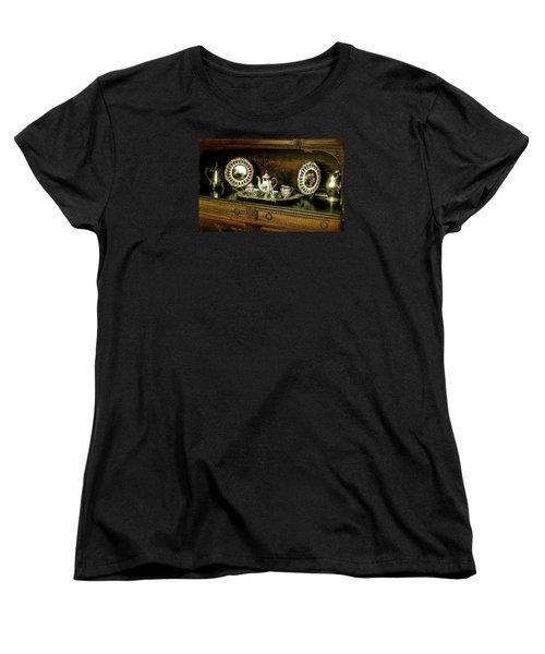 Antique Tea Set Women's T-Shirt (Standard Cut) by The Art of Alice Terrill