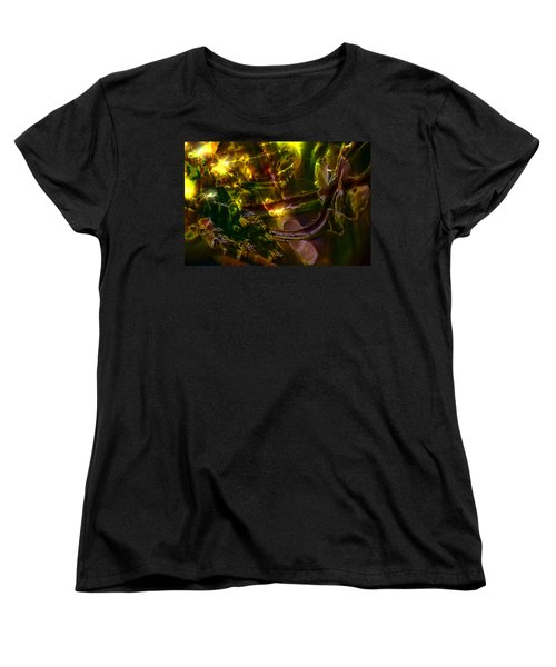 Women's T-Shirt (Standard Cut) featuring the digital art Apocryphal - Tilting From Beastback by Richard Thomas