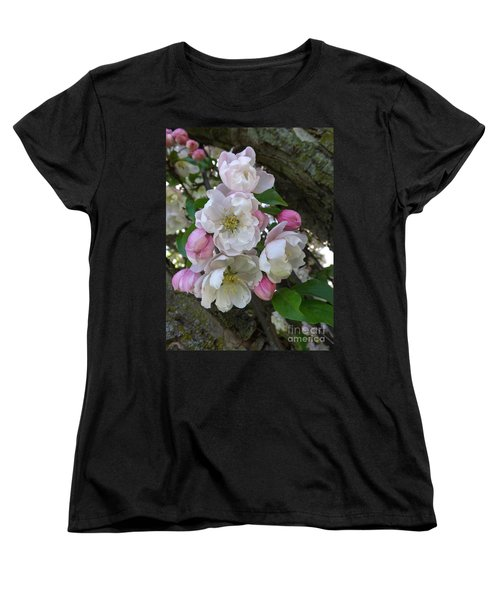 Apple Blossom Bouquet Women's T-Shirt (Standard Cut) by Sara  Raber