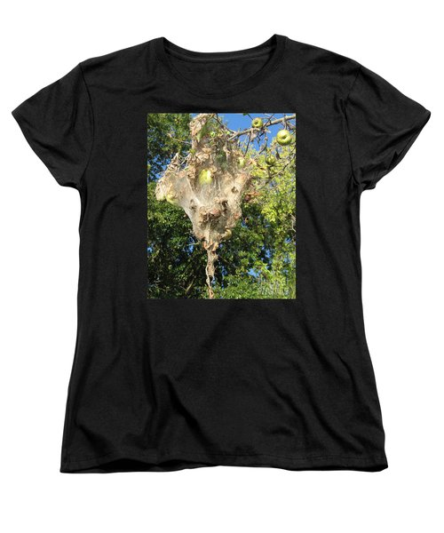 Women's T-Shirt (Standard Cut) featuring the photograph Apple Trap by Carol Lynn Coronios