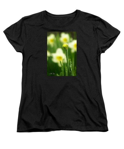 Women's T-Shirt (Standard Cut) featuring the photograph April Showers by Joan Davis
