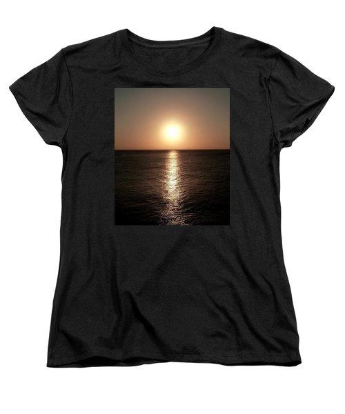 Women's T-Shirt (Standard Cut) featuring the photograph April Sunset by Amar Sheow