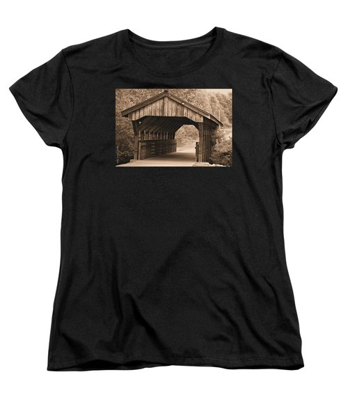 Arabia Mountain Covered Bridge Women's T-Shirt (Standard Cut) by Tara Potts