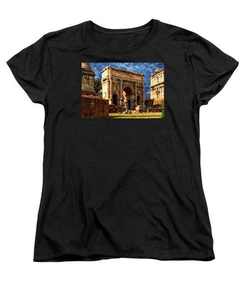 Arch Of Septimius Severus Women's T-Shirt (Standard Cut) by Anthony Dezenzio