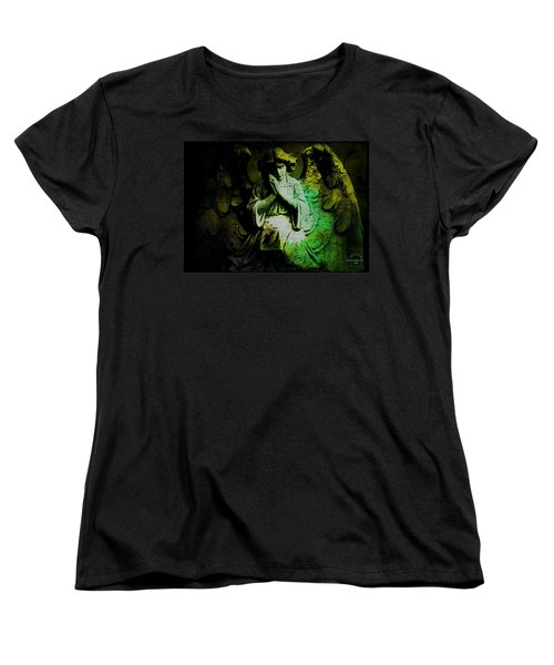 Archangel Uriel Women's T-Shirt (Standard Cut) by Absinthe Art By Michelle LeAnn Scott