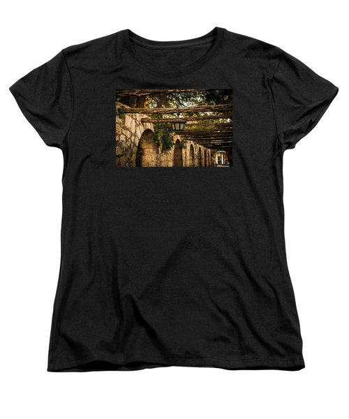 Arches At The Alamo Women's T-Shirt (Standard Cut) by Melinda Ledsome