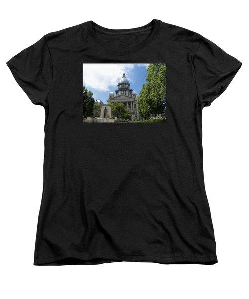 Architecture - Illinois State Capitol  - Luther Fine Art Women's T-Shirt (Standard Cut) by Luther Fine Art