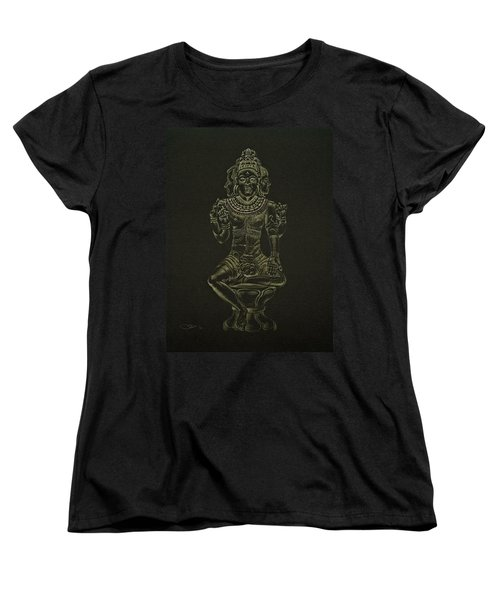 Women's T-Shirt (Standard Cut) featuring the drawing Ardhanarishvara I by Michele Myers