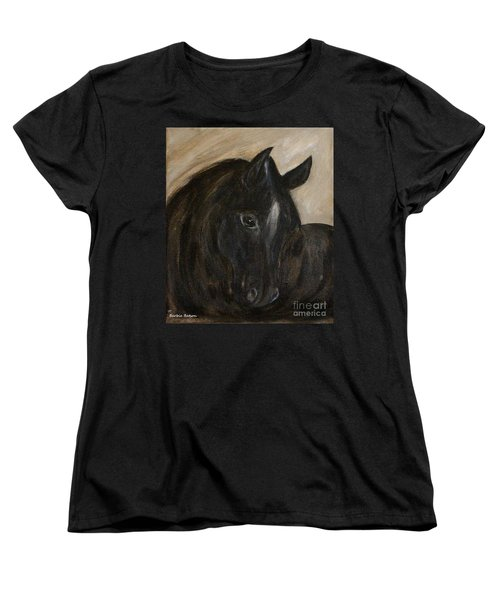 Women's T-Shirt (Standard Cut) featuring the painting Arion by Barbie Batson