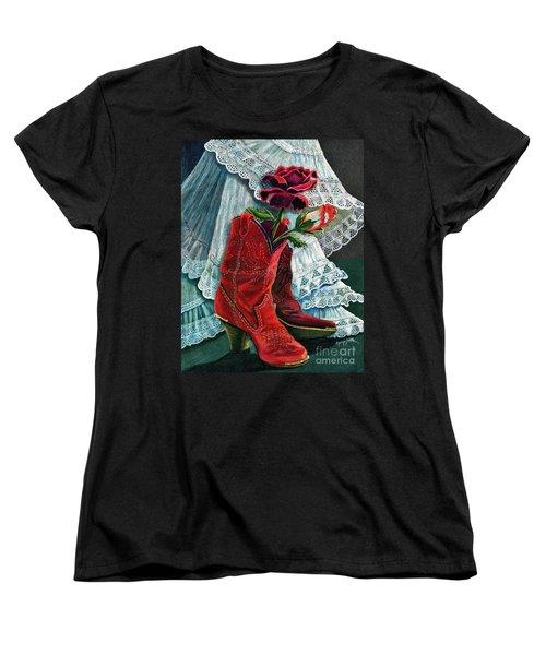 Arizona Rose Women's T-Shirt (Standard Cut) by Marilyn Smith