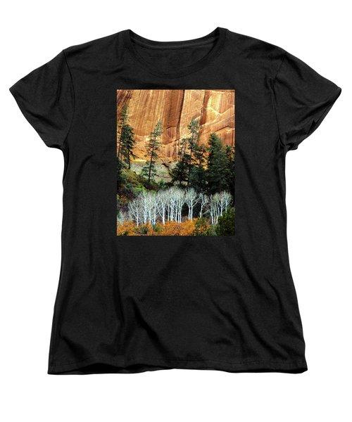 Arizona's Betatkin Aspens Women's T-Shirt (Standard Cut) by Ed  Riche