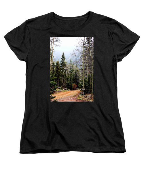 Around The Bend Women's T-Shirt (Standard Cut) by Barbara Chichester