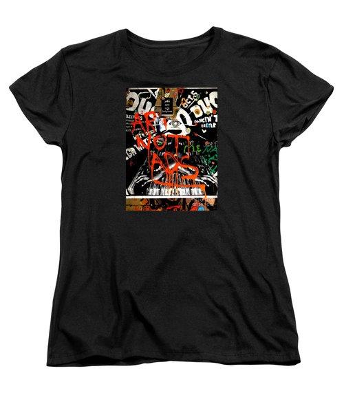 Art Not Ads Women's T-Shirt (Standard Cut) by Newel Hunter