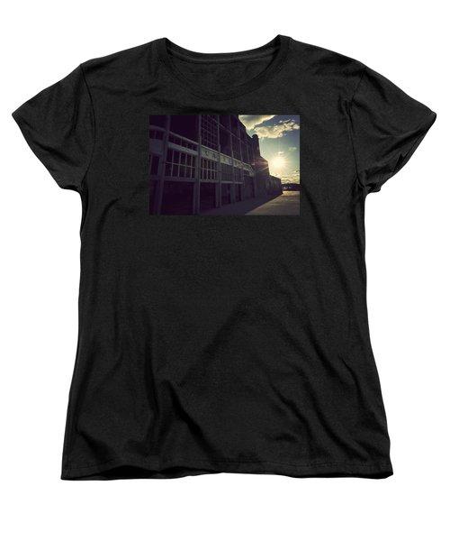 Asbury Park Nj Casino Vintage Women's T-Shirt (Standard Cut) by Terry DeLuco